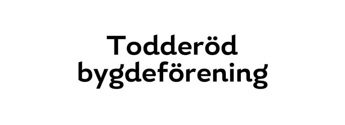 Sollidens handelsträdgård sponsrar Todderöd bygdeförening.