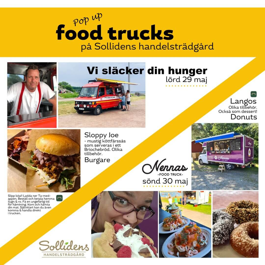 Pop up Food trucks på Solliden